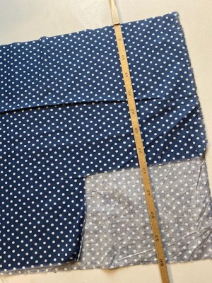 ♥HILCO♥ 50cm COTTON dots BLUE not complete