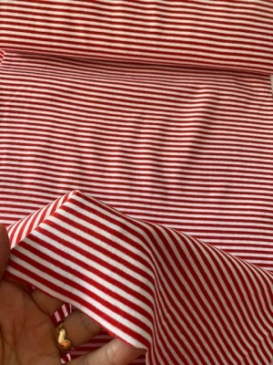 ♥CUFF♥ 0.25m STRIPES red&white PRICE per 0.25m