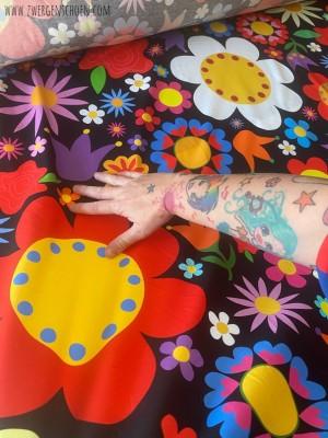 ♥BLUMENSCHÖN XXL♥ 0.95m JERSEY Riesen-Blumen BLACK