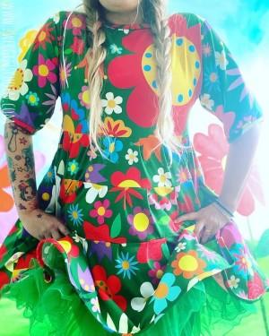 ♥BLUMENSCHÖN XXL♥ 0.5m JERSEY Riesen-Blumen GRÜN