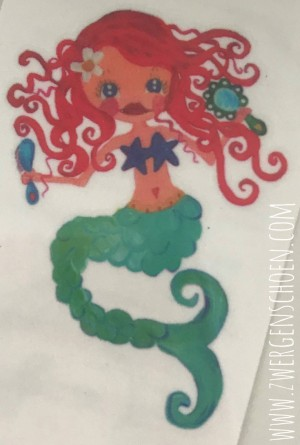 ♥TATTOO for a WEEK♥ Mermaid 3.5x4.5cm