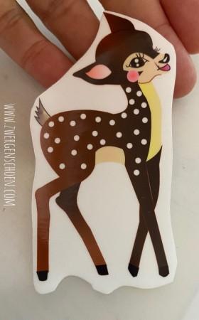 ♥HEILE WELT REHlein♥ Aufkleber TRANSPARENT Sticker 9cm