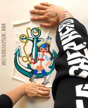 ♥PANEELE vol.2♥ Jersey (!) 8 aus 20 Sammy the SAILOR im ANKER