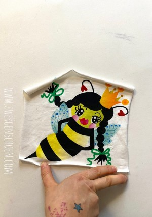 ♥PANEELE vol.2♥ Jersey (!) 12 aus 20 BEE QUEEN Bienenkönigin
