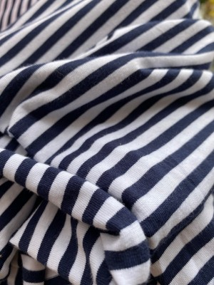 ♥RINGEL♥ 0.5m JERSEY Stripes MARINE blue/white