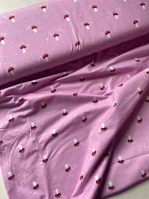 ♥FLIEGENPILZE♥ 0.5m JERSEY rosa MY LITTLE FOXY by SWAFING