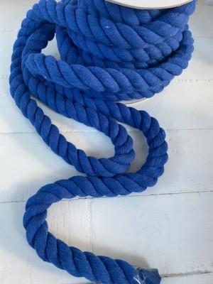 ♥SEILKORDEL♥ Kordel SEIL fett KOBALT blau 2.5cm