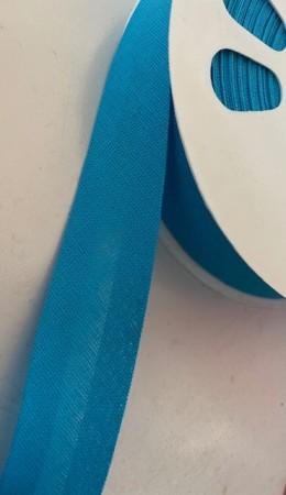 ♥SCHRÄGBAND♥ Baumwolle UNI blau TÜRKIS