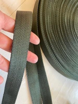 ♥GURTBAND♥ 25mm BREIT army GRÜN olive METERWARE soft