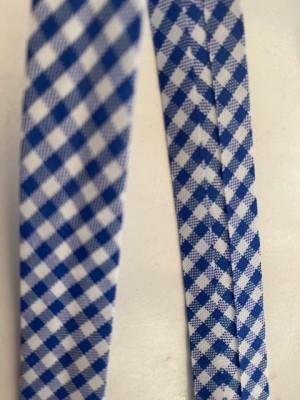 ♥SCHRÄGBAND♥ Baumwolle VICHY blau KARIERT 1.45m
