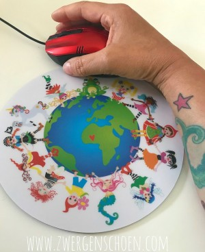 ♥MOUSEPAD♥ round ONE WORLD united