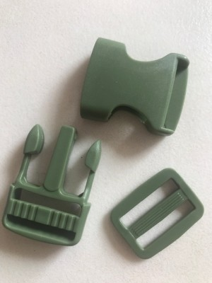 ♥STECKVERSCHLUSS♥ Kunststoff STECKSCHNALLE army GREEN 2.5cm 3er-SET