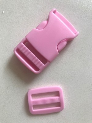 ♥STECKVERSCHLUSS♥ Kunststoff STECKSCHNALLE rosa 2.5cm 3er-SET