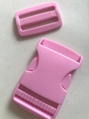 ♥STECKVERSCHLUSS♥ Kunststoff STECKSCHNALLE rosa 3.8cm 3er-SET