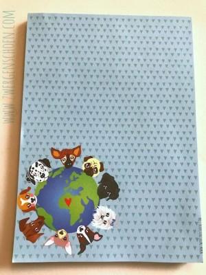 ♥DOGs UNITED♥ Notizblock DIN A6 50Blatt Hunde