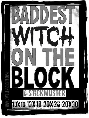 ♥BADDEST WITH ON THE BLOCK♥ Embroidery-File 1€-SPARbie