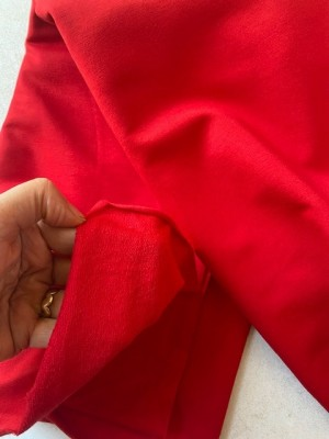 ♥FRENCH TERRY♥ 0.5m SWEATSHIRT red ROT