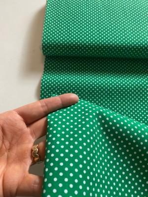 ♥Dotties♥ 0.5m WOVEN Cotton DOTS green