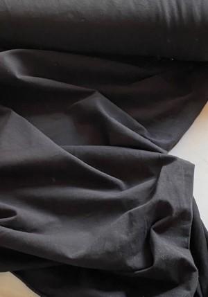 ♥LEINEN-MIX Uni♥ 0.5m BAUMWOLLE/Leinen SCHWARZ