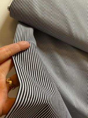 ♥STREIFEN♥ 0.5m WEBWARE Baumwolle STRIPES schwarz/weiss