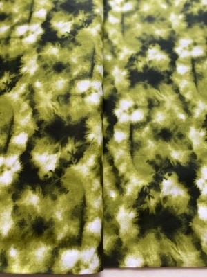 ♥TIE&DYE♥ 0.5m WOVEN COTTON green