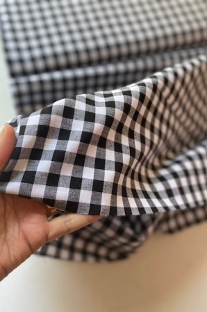 ♥CHECK it OUT♥ 0.5m fabric cotton BLACK