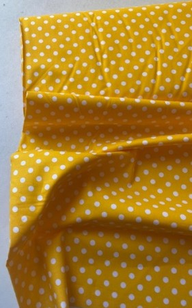 ♥POLKA DOTS♥ 0.5m fabric woven cotton YELLOW
