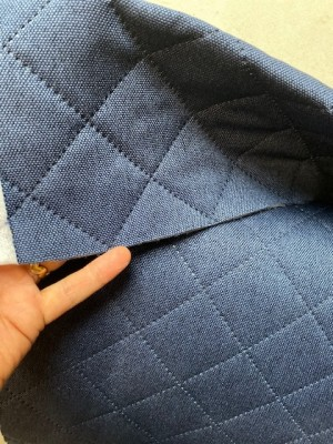 ♥QUILTET BAG FABRIC♥ 0.5m DARK BLUE St.Petersburg HIGH QUALITY