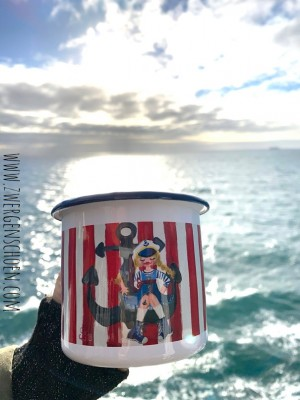 ♥MATROSENMÄDCHEN♥ Tasse EMAILLE Becher SAILOR GIRL