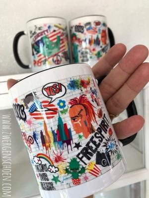 ♥NYC♥ Tasse MUG Keramik USA Graffiti