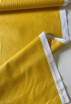 ♥small dots♥ 0.5m COTTON woven YELLOW by poppy