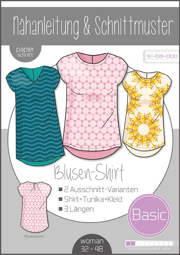 ♥Damen Basic Blusen-Shirt♥ PAPIER-SCHNITTMUSTER Din A0 WOMAN 32-50