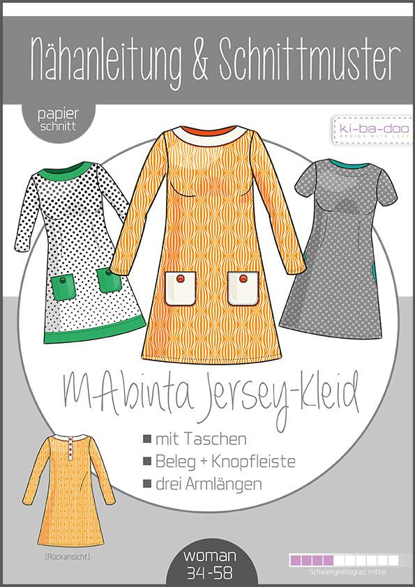 ♥A-Linien-Kleid MAbinta♥ PAPIER-SCHNITTMUSTER Din A0 WOMAN 34-58