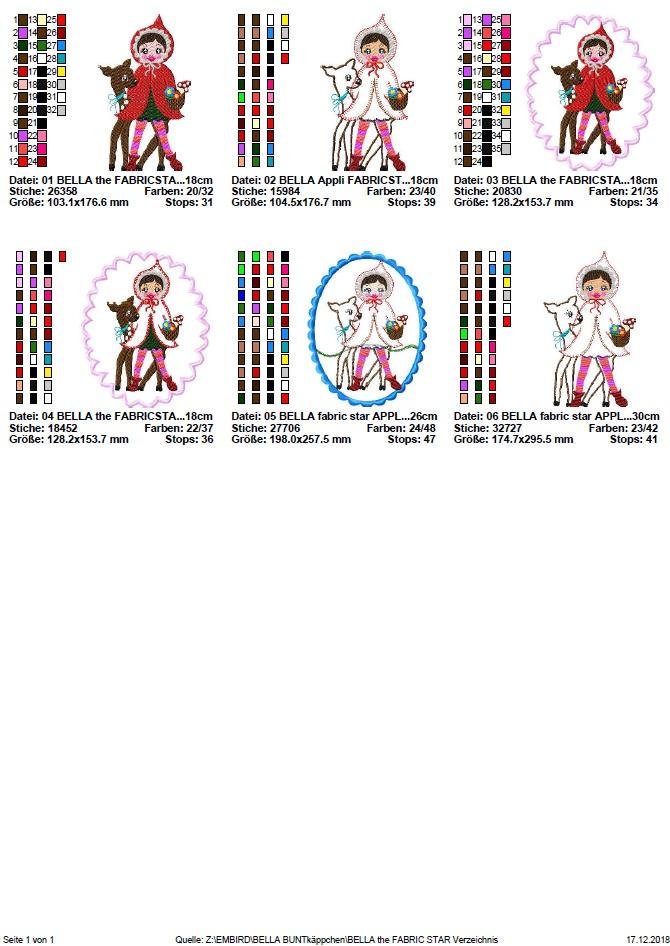 ♥little red♥ fabricstar bella stickmotiv rotkäppchen 13x18