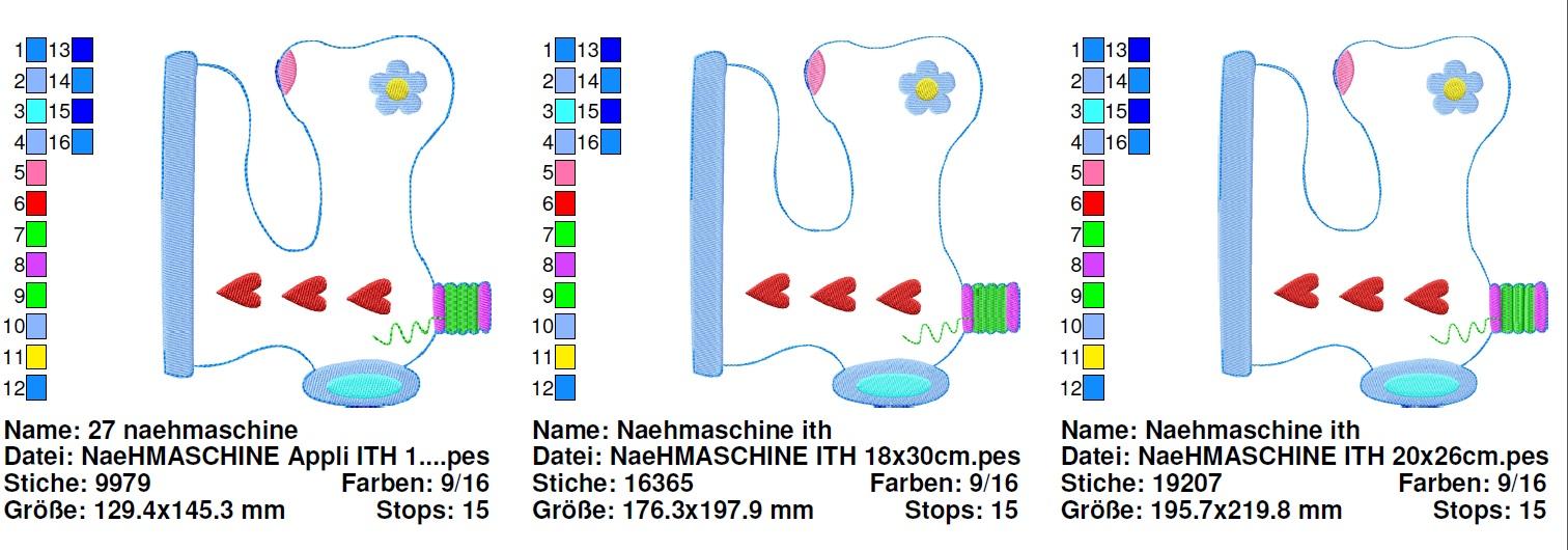 ♥NäHMASCHiNe♥ Stickmuster InTheHOOP 13x18cm 20x26cm 18x30cm-1439-220