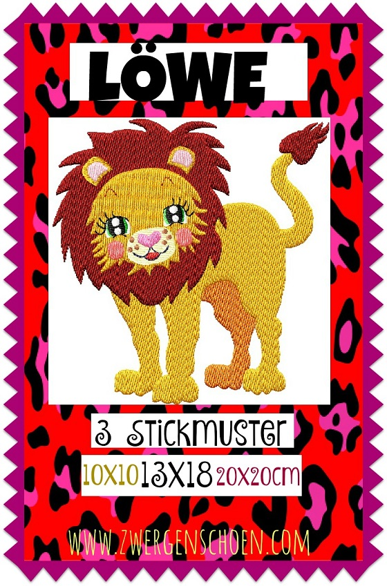 ♥LION♥ Embroidery-FILE Africa 10x10 13x18 20x20cm