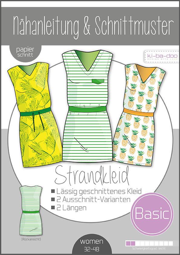 ♥Basic Strandkleid Damen♥ PAPIER-SCHNITTMUSTER Din A0 WOMAN 32-48