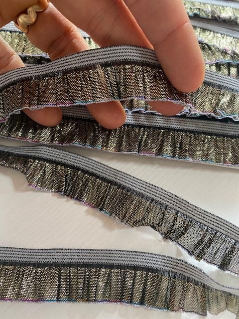 ♥RÜSCHENBAND♥ metallic RAINBOW 19mm