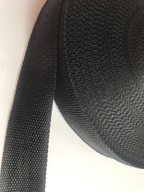 ♥GURTBAND♥ 4cm BREIT schwarz METERWARE