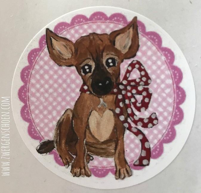 ♥BLESS♥ Aufkleber STICKER 20Stück rosa PUPPY Hund