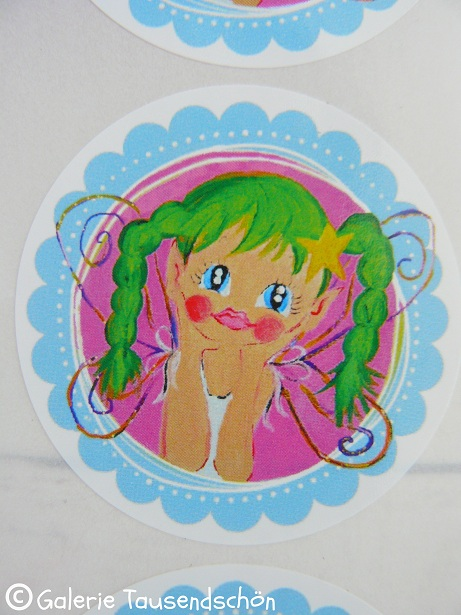 ♥TINKA BELLA♥sweet little FAIRY magic STICKER