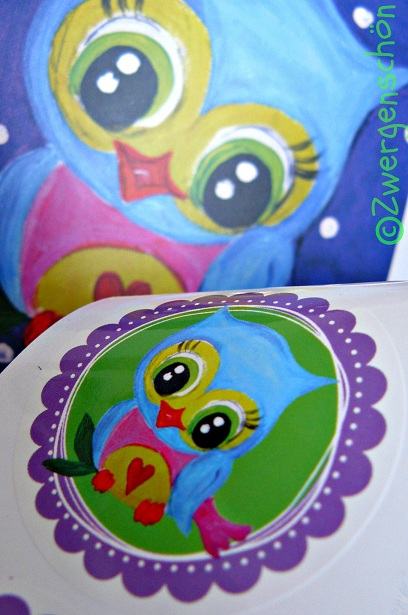 ♥SWEET OWL♥ sticker 20 PIECES