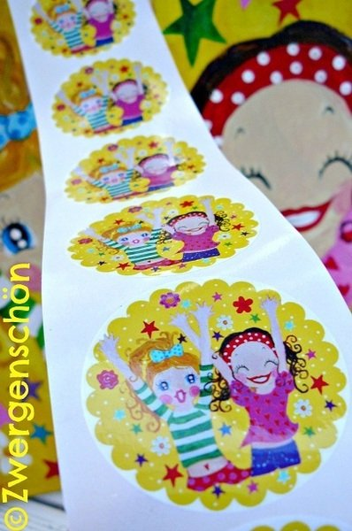 ♥HIP HIP HURRA♥ Aufkleber HAPPY Sticker 20Stck