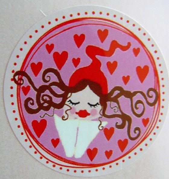 ♥MILLI in LOVE♥ Aufkleber ZWERGENSCHÖN rosarot 20Stk.