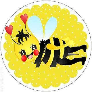 ♥SUNNY BEE♥ Sticker 20pcs 4,5cm