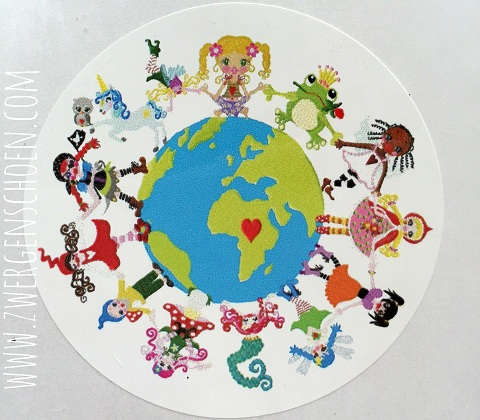 ♥ONE♥ Sticker 20pcs 5cm ONE PLANET save our planet