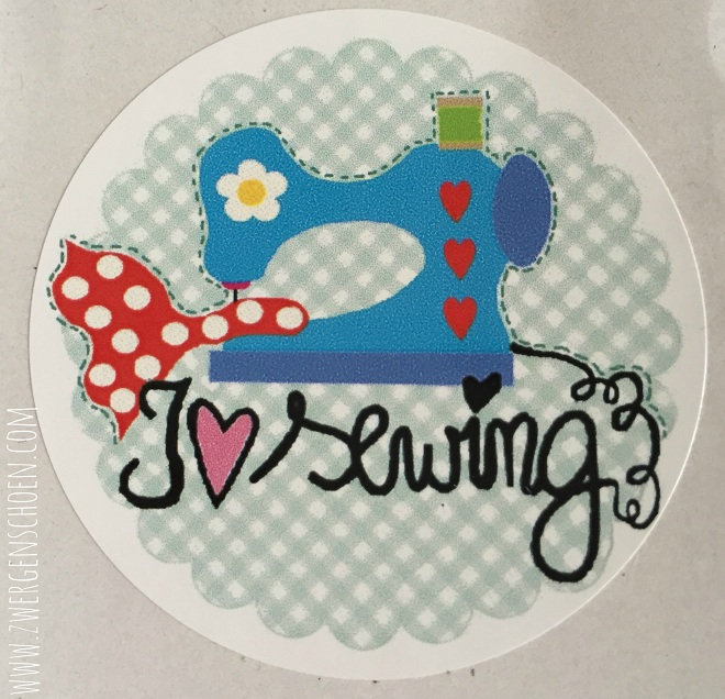 ♥ I LOVE SEWING♥ Sticker 20pcs 5cm