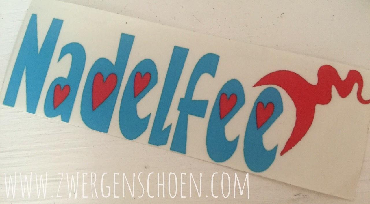 ♥NADELFEE♥ Aufkleber 5x14,5cm für INNEN
