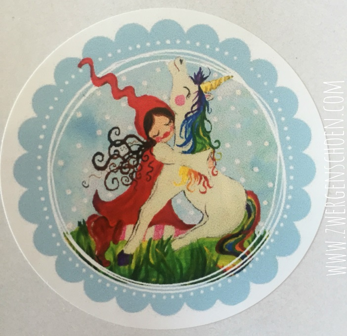 ♥MILLI in LOVE with UNICORN♥ Aufkleber STICKER 20Stk. 5cm