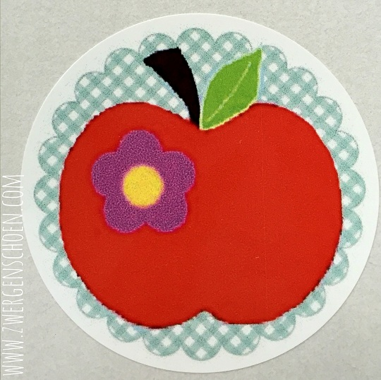 ♥AN APPLE A DAY♥ Sticker 4,5cm price per 20pcs